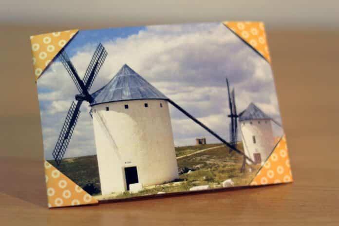 diy origami como hacer un marco de fotos con papel