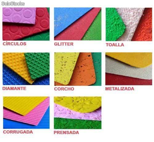 Laminas goma eva textura corrugada 70x45cm en 2mm de - Hacer nombres con goma eva ...