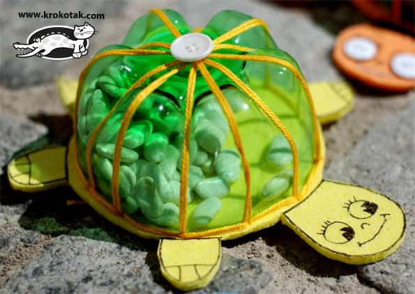 Recycled Plastic Bottle Turtle