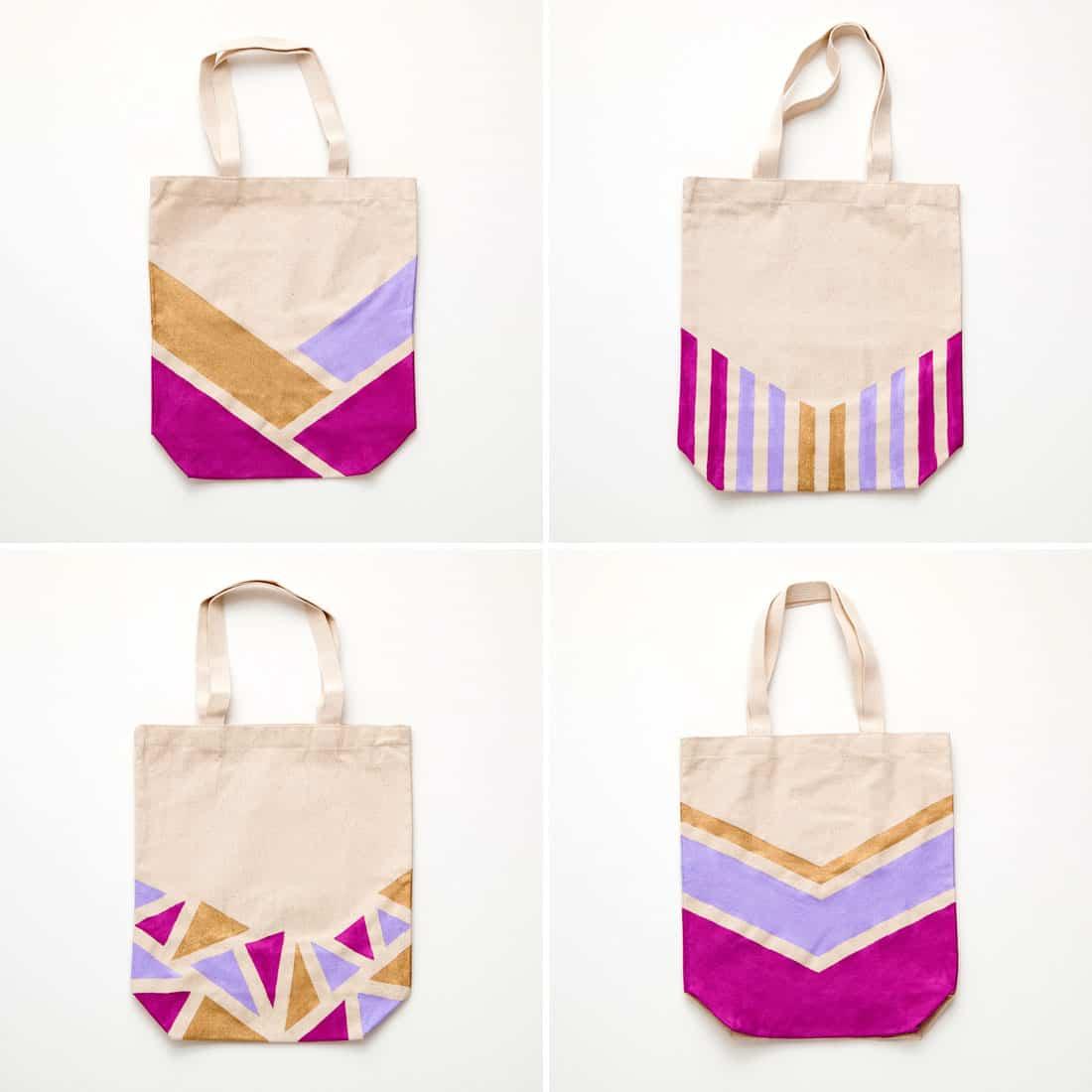 Bolsa de tela pintada ayuda para manualidades - Como hacer manualidades de tela ...
