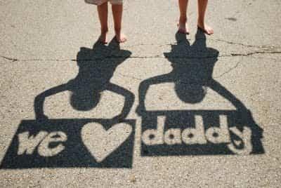 manualidades para niños dia del padre fotografia sombra