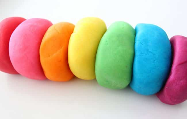 plastilina casera multicolor