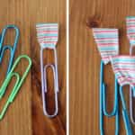 clips con washi tape