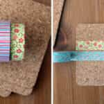 haciendo posavasos con washi tape