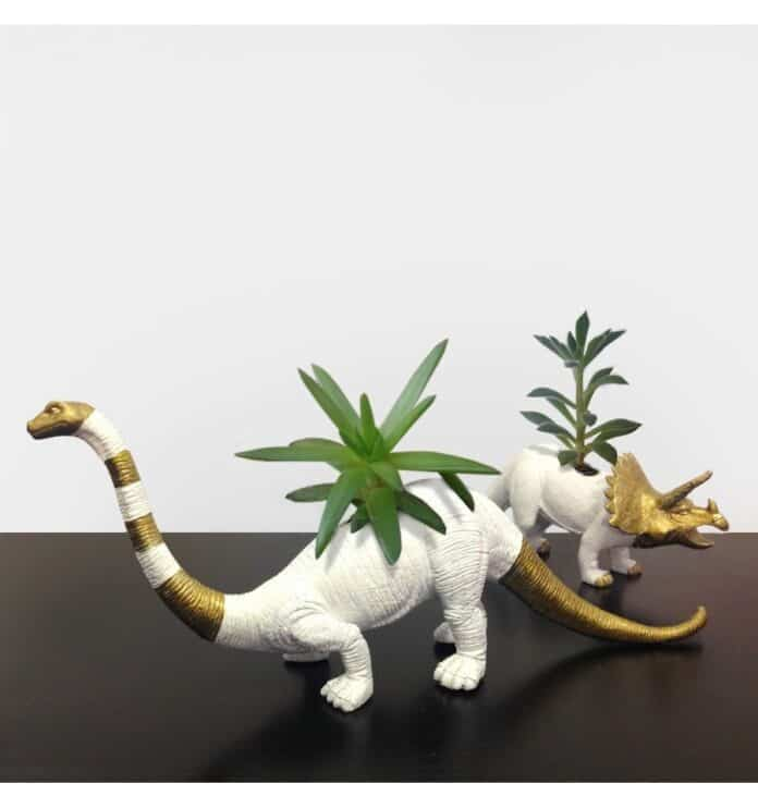 macetero dinosaurios DIY
