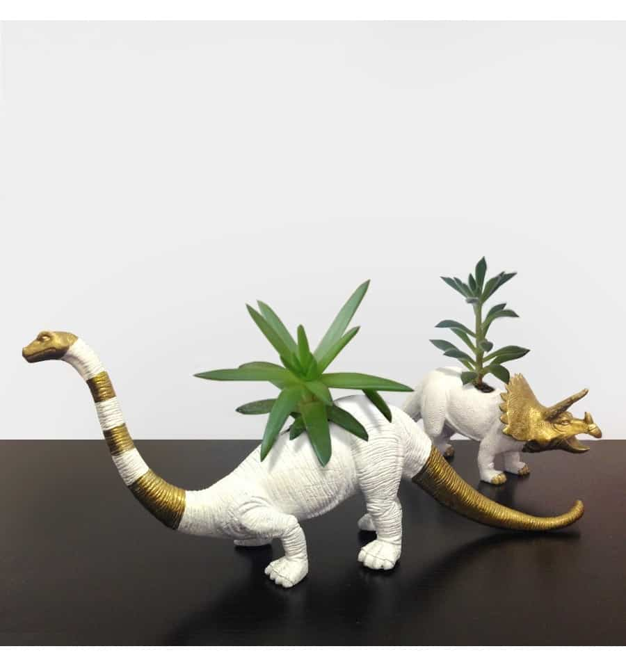 Macetero dinosaurios diy ayuda para manualidades for Manualidades modernas para el hogar