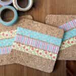 originales posavasos con washi tape