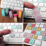 teclado mac washi tape