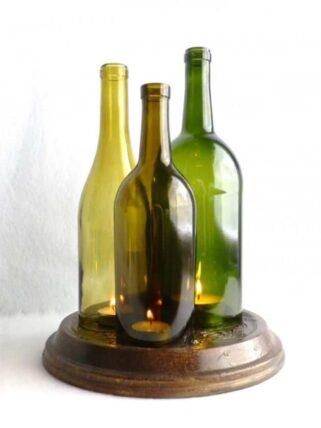 portavelas con botellas vino 2