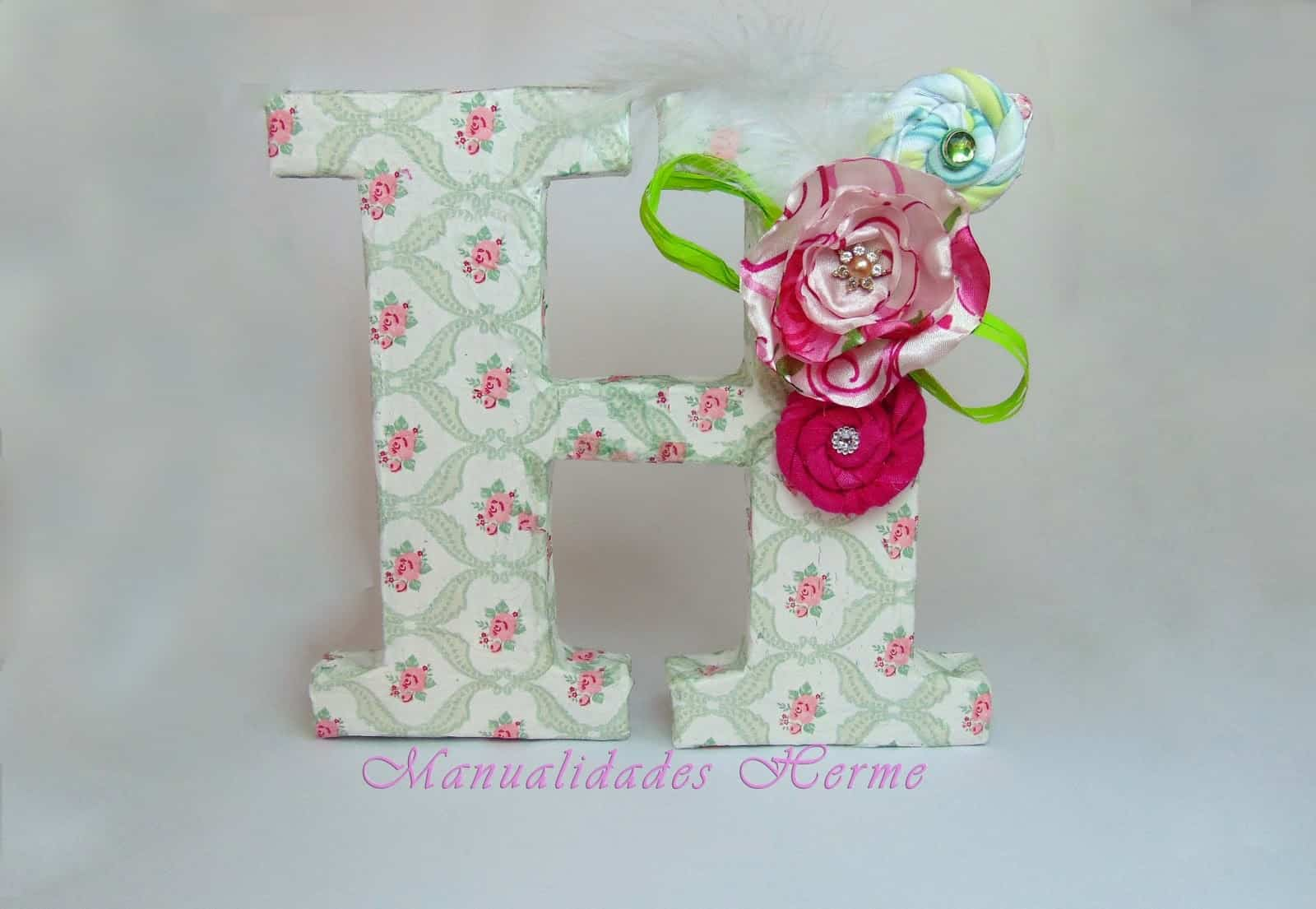 Letras para decorar - Ideas para decorar letras de madera ...