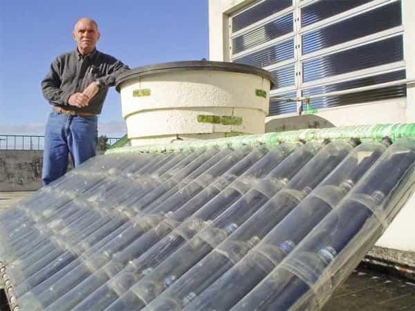 calentador solar con botellas resultado final