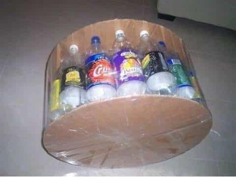 puf botellas de plástico 2