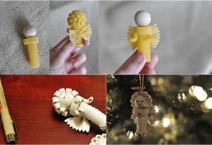 ángel de pasta para decorar