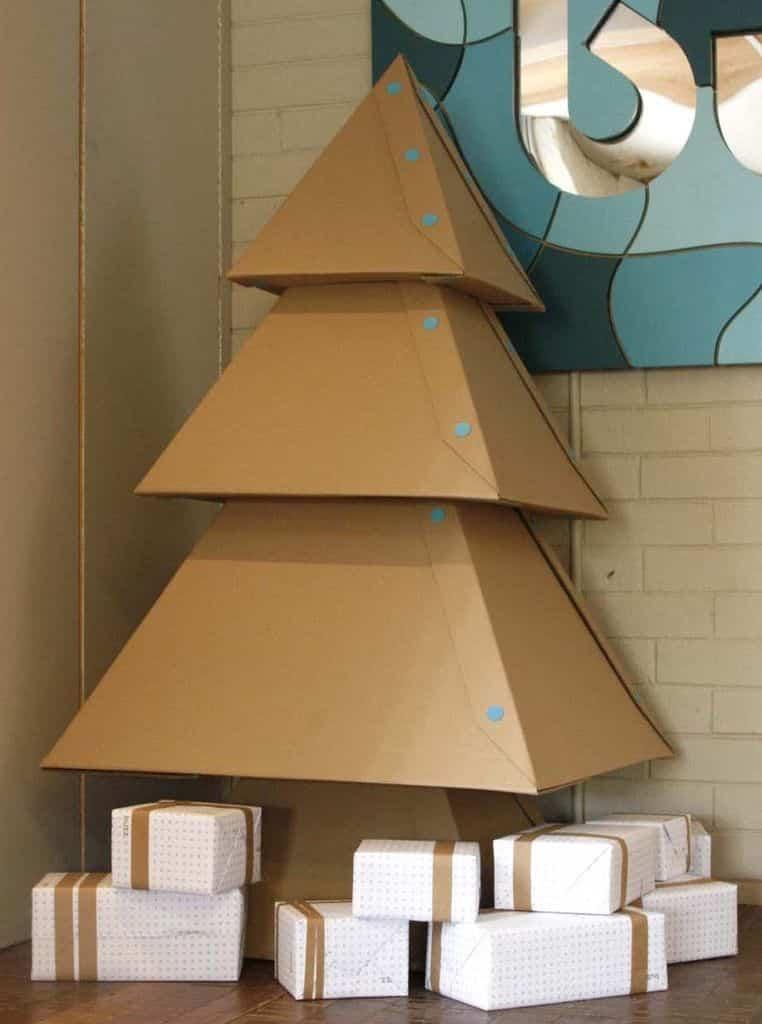 rbol de navidad hecho con cartn ayuda para manualidades - Arbol De Navidad De Carton