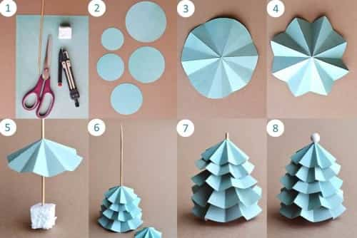 Arbolito navide o de papel para decorar la casa for Manualidades con cosas de casa