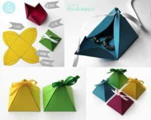 cajas de regalo pirámide
