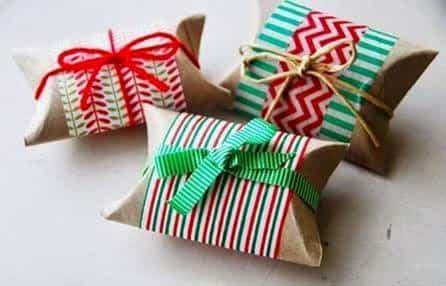 cajitas de regalo recicladas