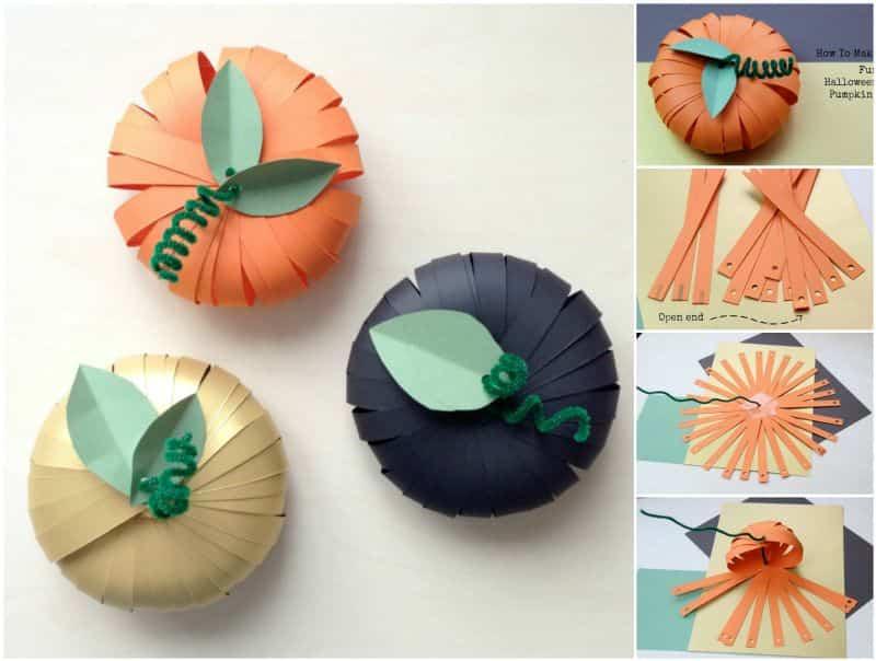 C mo crear una calabaza de papel para halloween ayuda for Decoracion de calabazas manualidades