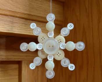 decoracion navidad con botones 10