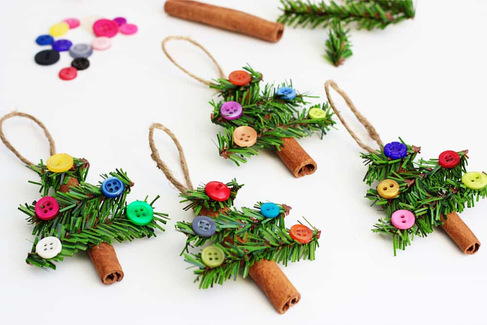 decoracion navidad con botones 11