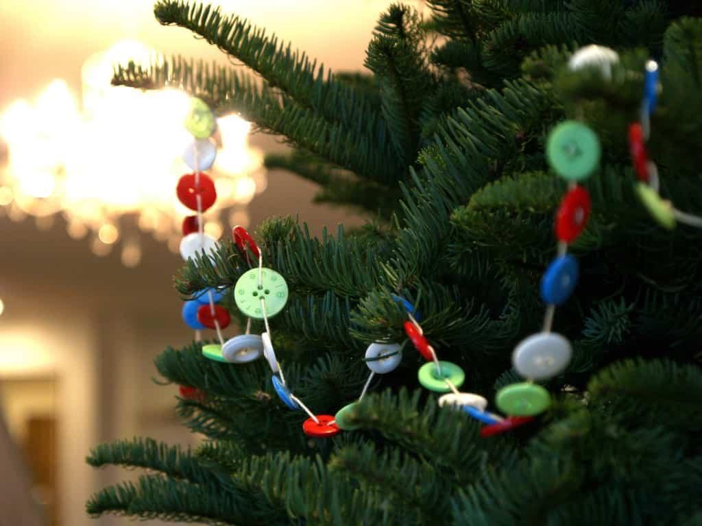 decoracion navidad con botones 12