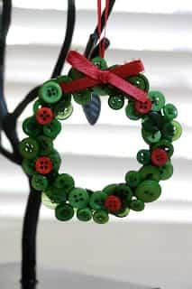 decoracion navidad con botones 13