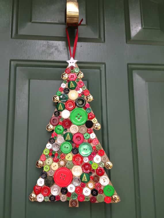 decoracion navidad con botones 14