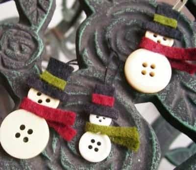 decoracion navidad con botones 15
