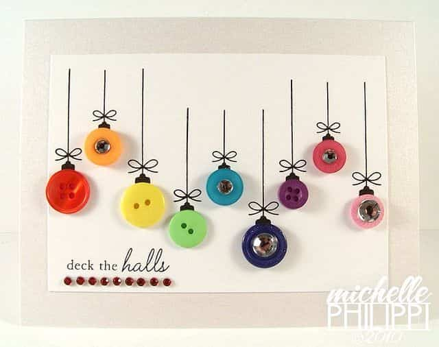 decoracion navidad con botones 16