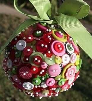 decoracion navidad con botones 2