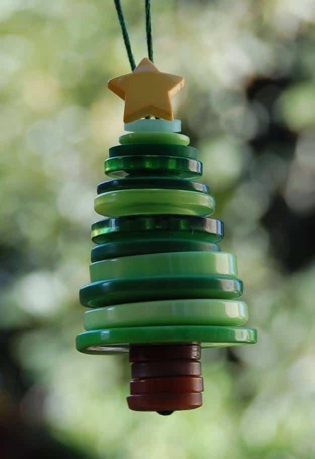 decoracion navidad con botones 3