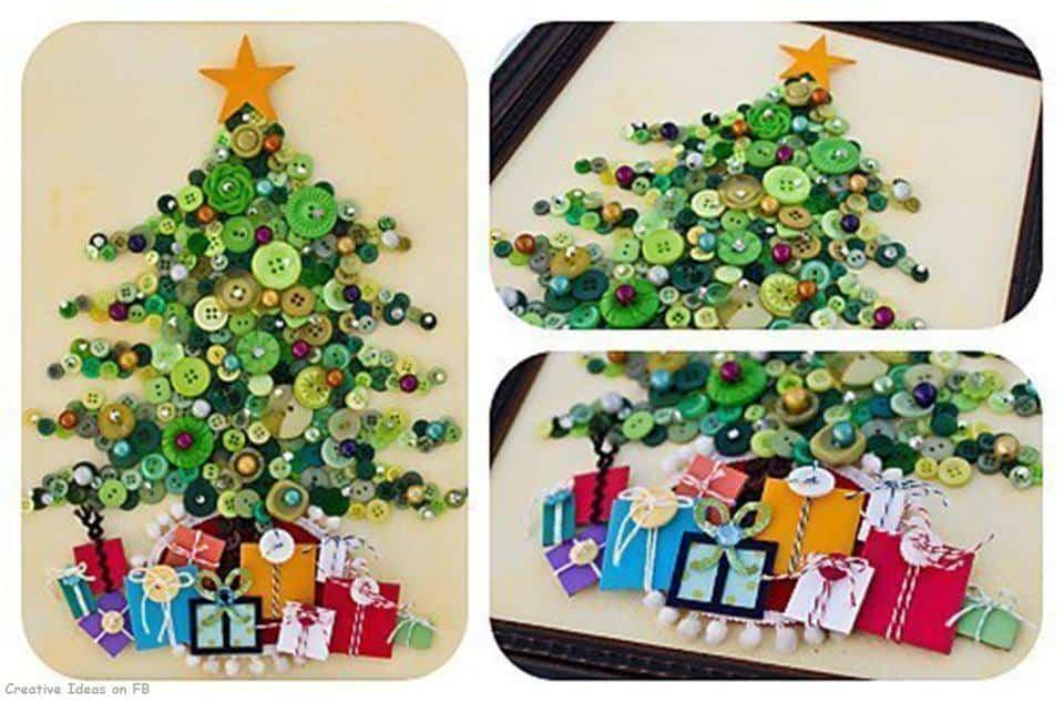 decoracion navidad con botones 4