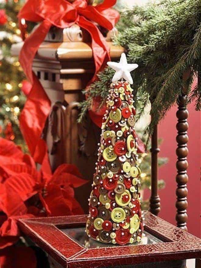 decoracion navidad con botones 5
