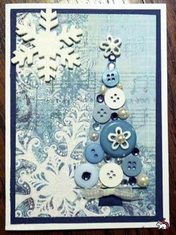 decoracion navidad con botones 6