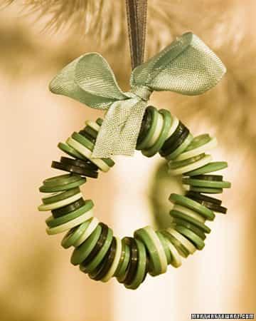 decoracion navidad con botones 7