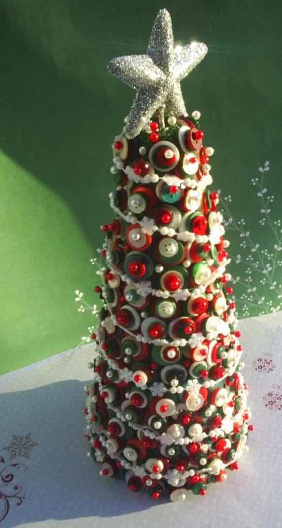 decoracion navidad con botones 9
