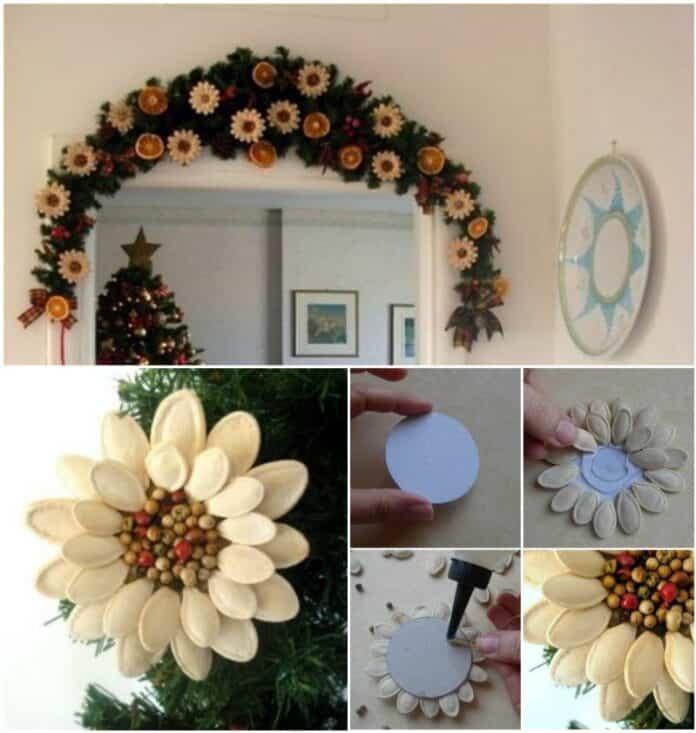 flor navidad calabaza