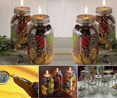 jarras con velas