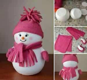 muñeco navideño de nieve