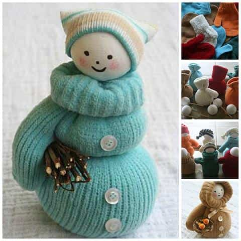 muñeco de nieve con guante 1