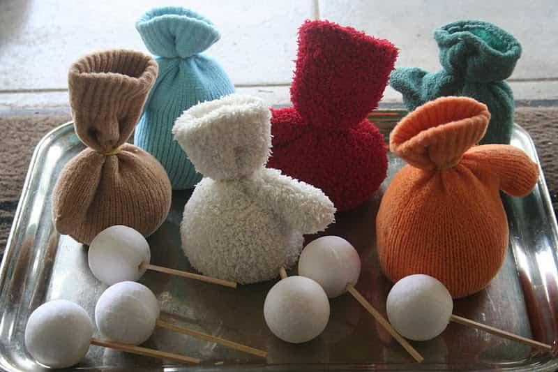 muñeco de nieve con guante 3