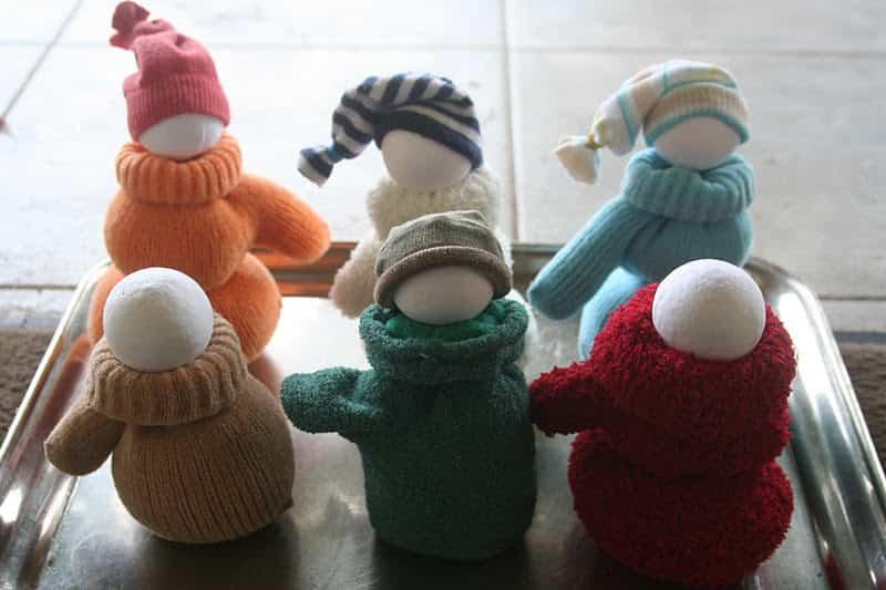 muñeco de nieve con guante 4