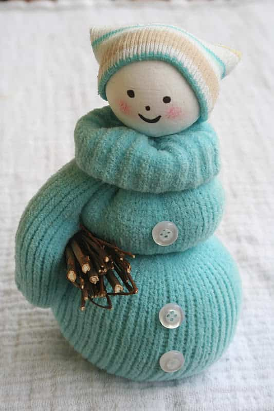 muñeco de nieve con guante 5