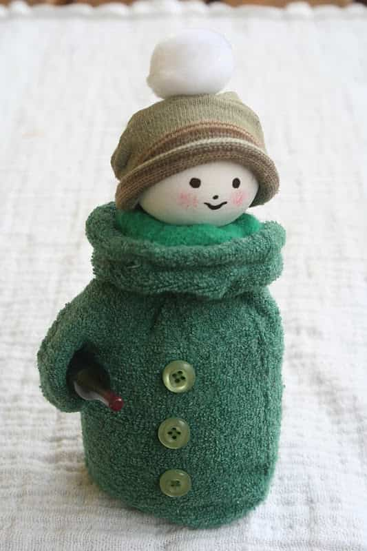 muñeco de nieve con guante 6