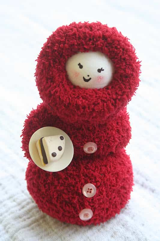 muñeco de nieve con guante 7