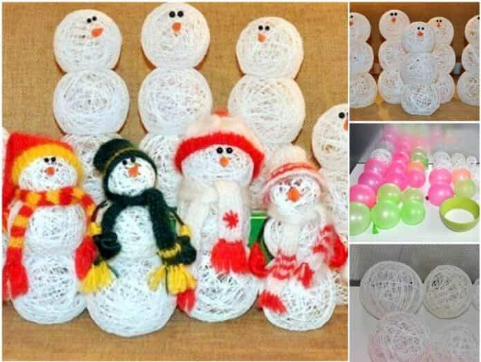 muñeco de nieve globos 1