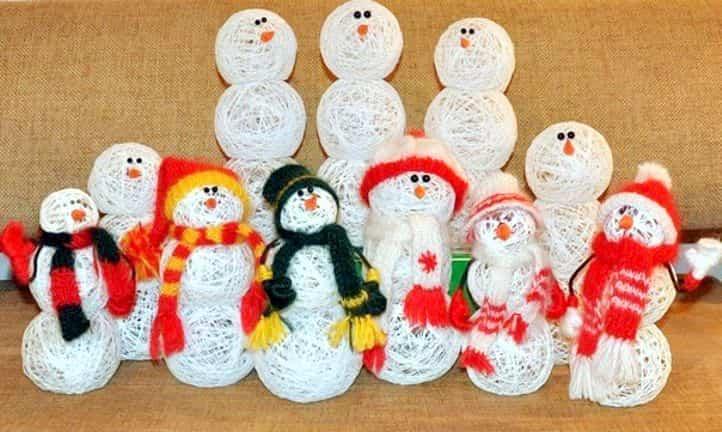 muñeco de nieve globos 7