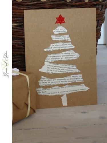 tarjeta navideña reciclada