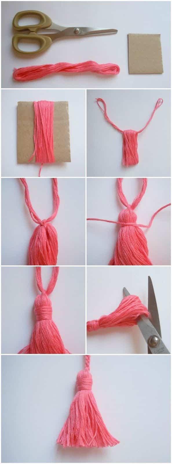Borla de lana para hacer en casa paso a paso - Ideas para porras ...