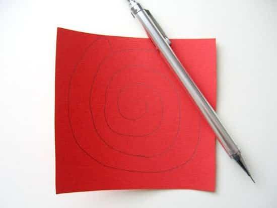 corazon rosas de papel 2